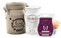 Scentsy Product Combination of 2 Warmers & 1 Wax Melt