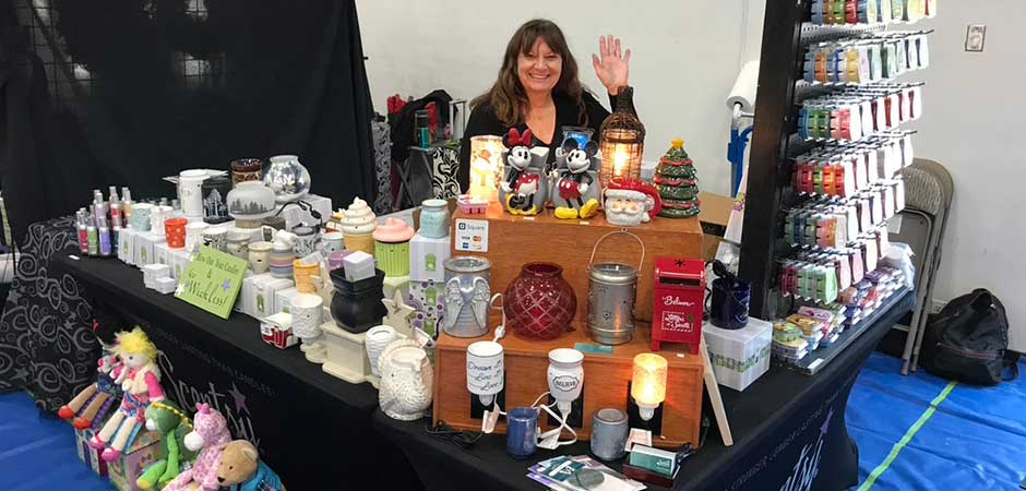 Mary Selling Scentsy at Boutique