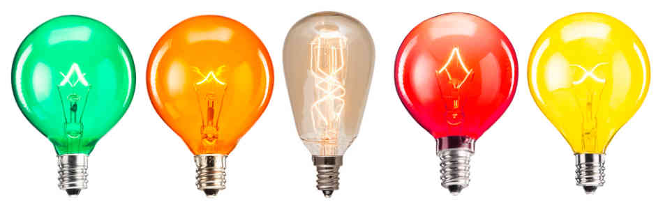 Scentsy Colored Light Bulbs