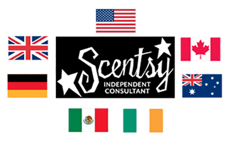 Scentsy Independent Consultant Logo with Country Flags