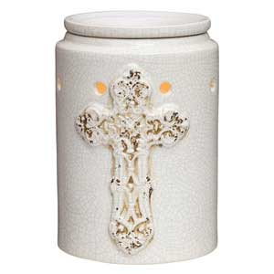 Antique Cross Scentsy Candle Warmer