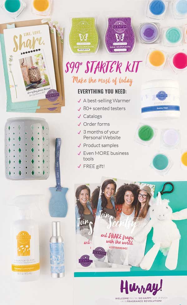 Scetnsy Start Kit Help You Get Started to Sell Scentsy