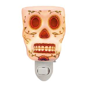 Calavera Night Light Candle Warmer