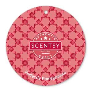 Scentsy Perfectly Pomegranate Scent Circle