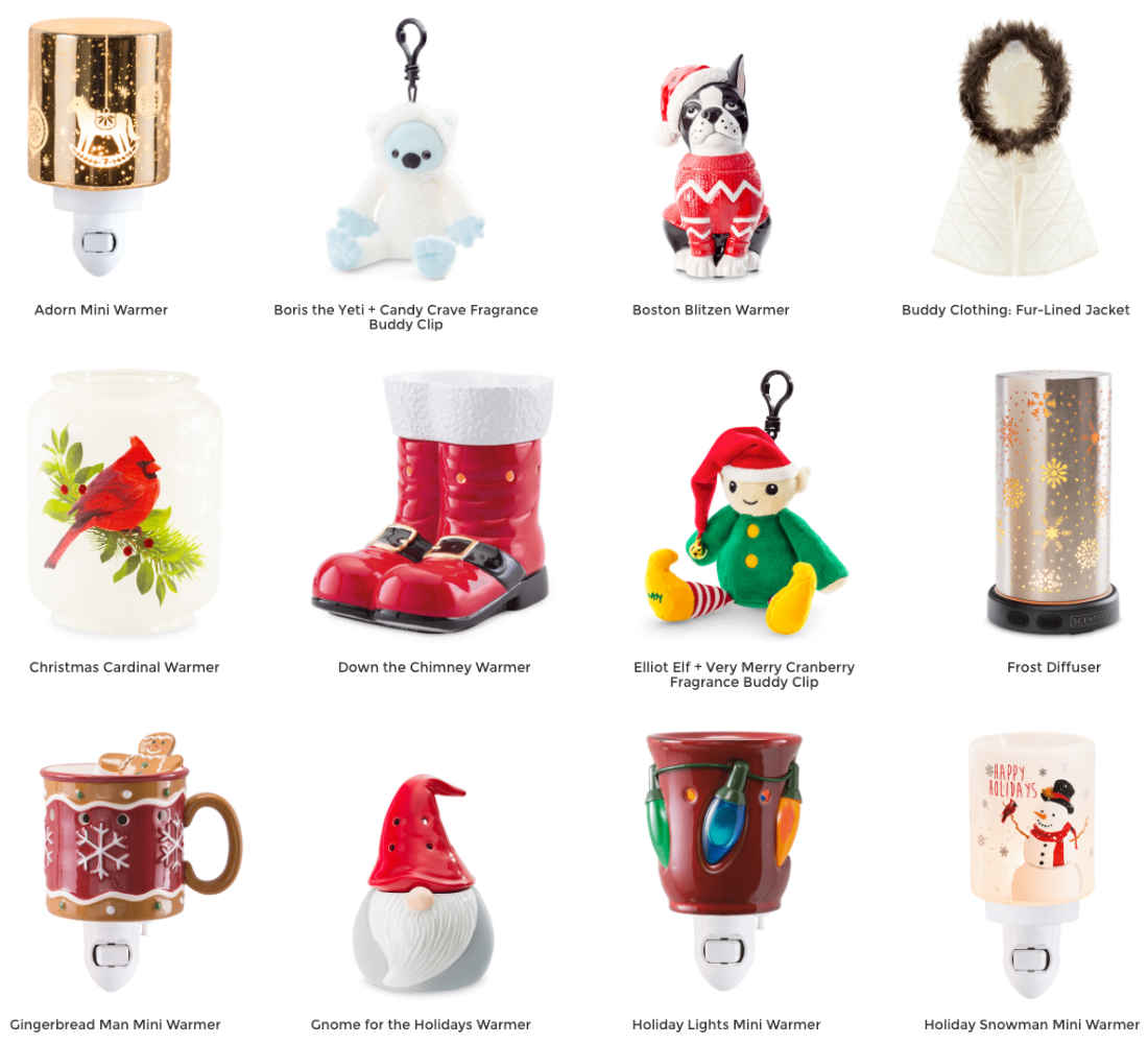 Scentsy Holiday Warmers 2018