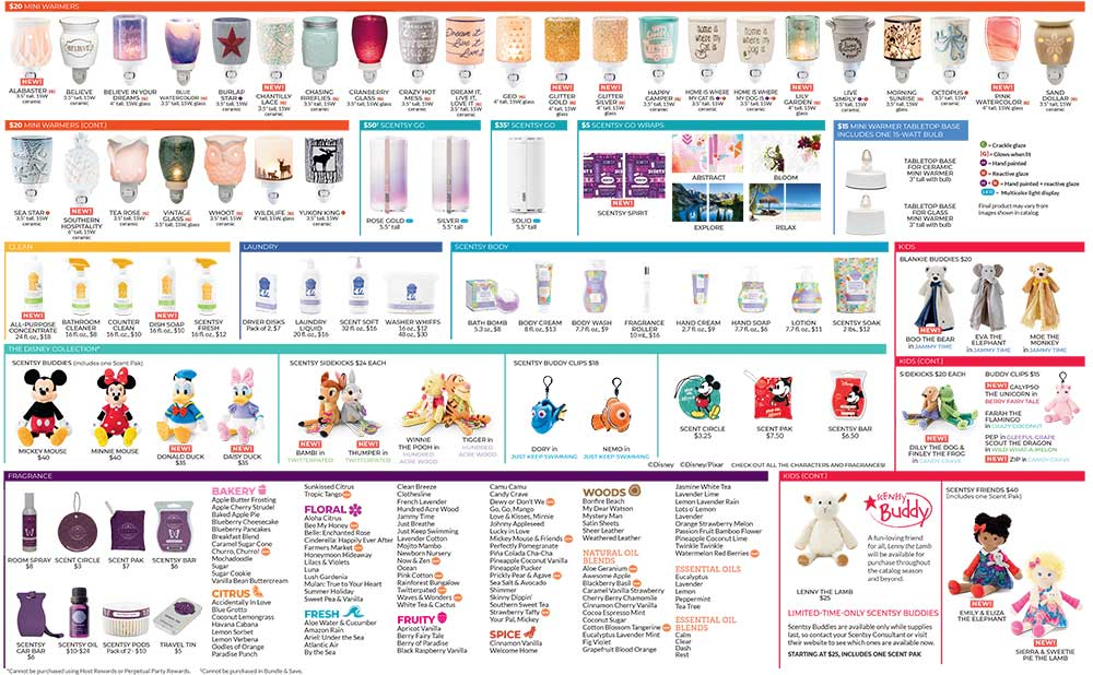 Scentsy Product List Page 2 spring/summer 2019