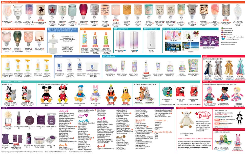 Scentsy 2019 Fall/Winter Product List Page 2