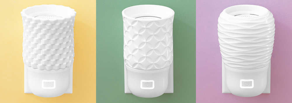 Three Different Scentsy Wall Fan Diffusers