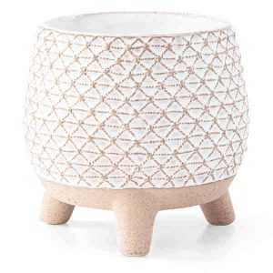 Scentsy Flower Pot Warmer on a 3 Leg Stool