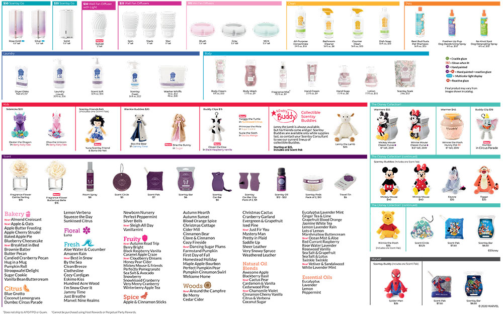 Scentsy Fall/Winter Product List 2020 Page-2