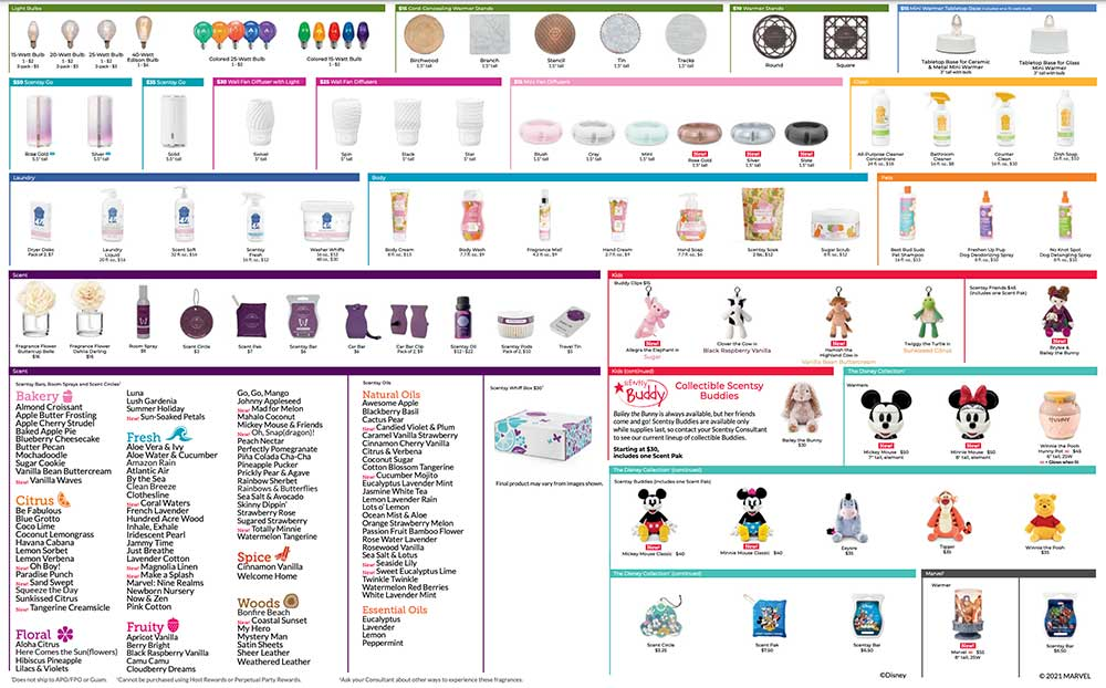 Scentsy 2021 Product List pg 2