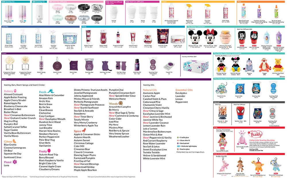 Scentsy 2021 Fall Winter Product List page 2
