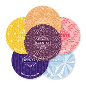6 scentsy scent circles