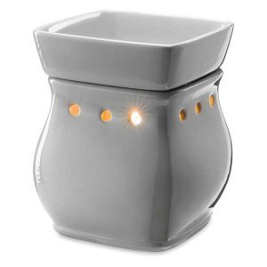 Authentic Scentsy Classic Curve Gloss Gray Warmer