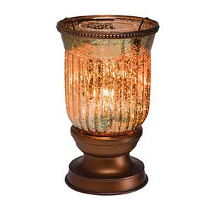 Amber Fluted Shade Glow Warmer