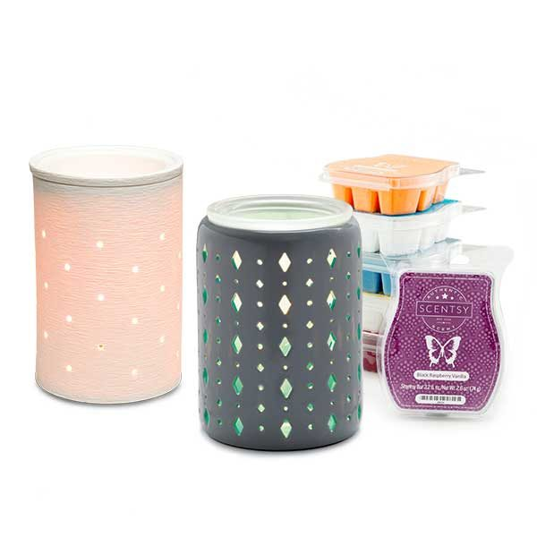 Two $30 Scentsy warmers & 6 Scentsy Scented Bars